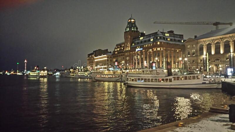 Stockholm hamn royaltyfri bild