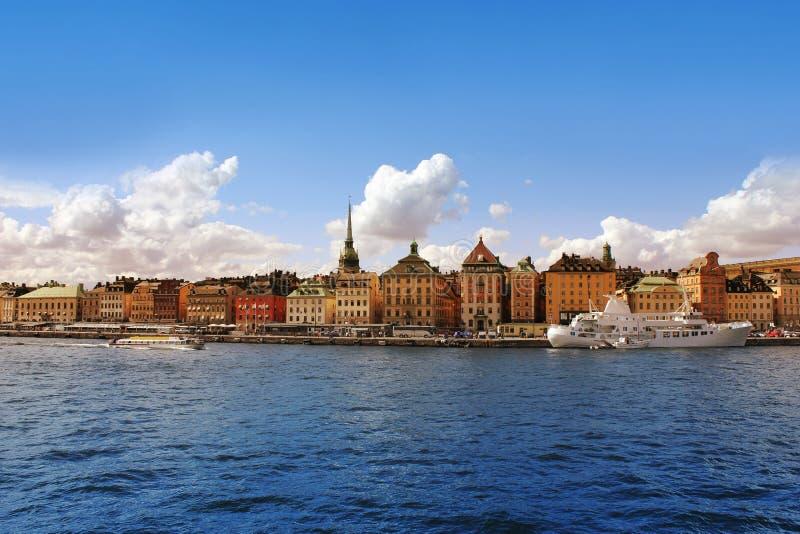 Stockholm Harbor, Sweden. Panorama of Stockholm Harbor, Sweden stock photo
