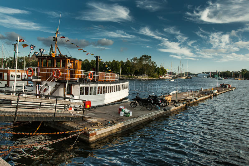 Stockholm harbour stock photo