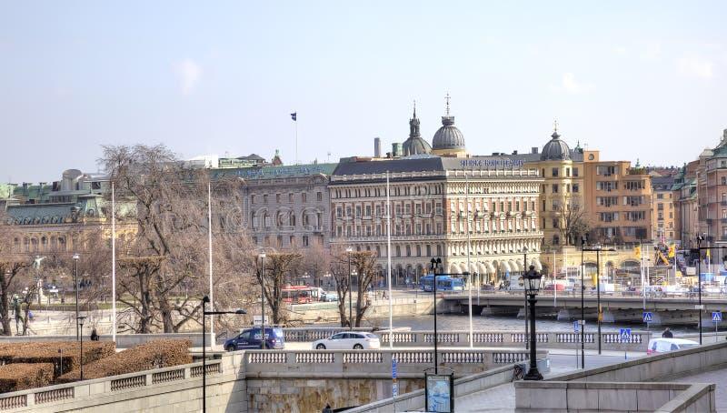 stockholm Historische Mitte der Stadt stockfotos