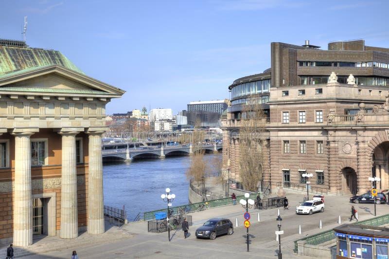 stockholm Historische Mitte der Stadt lizenzfreie stockbilder