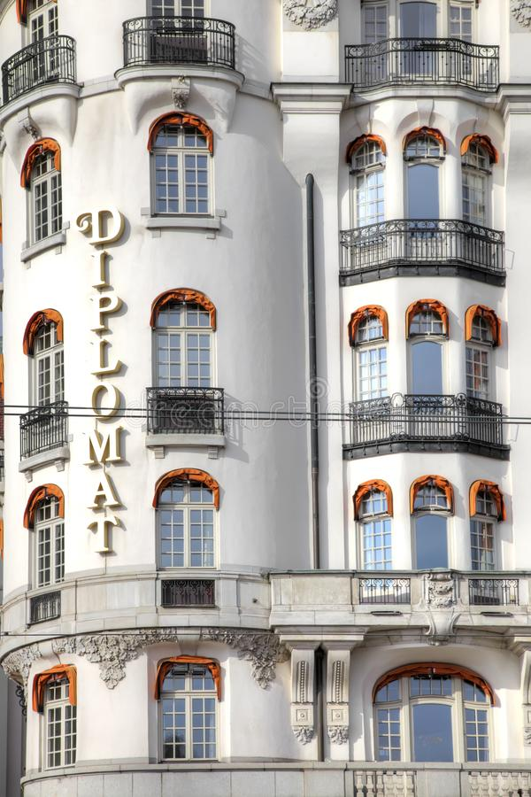 stockholm Hotelowy dyplomata obrazy royalty free