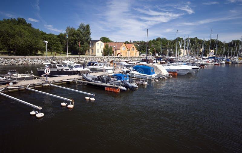 Stockholm-Jachthafen lizenzfreie stockbilder