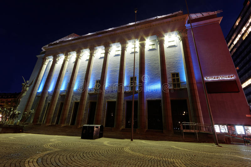 Stockholm-Konzertsaal stockfoto