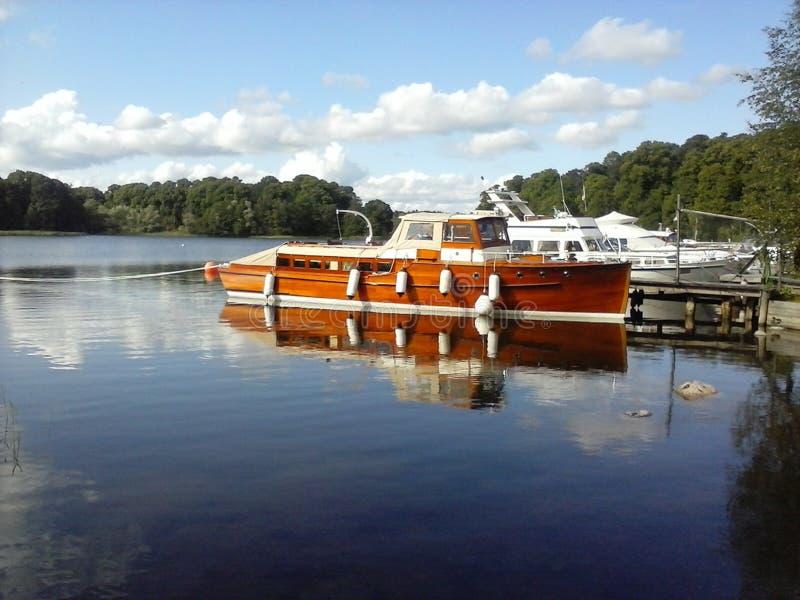 Stockholm Lago di Brunnsviken stockbild