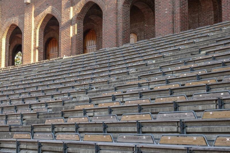 Stockholm le Stade Olympique image libre de droits