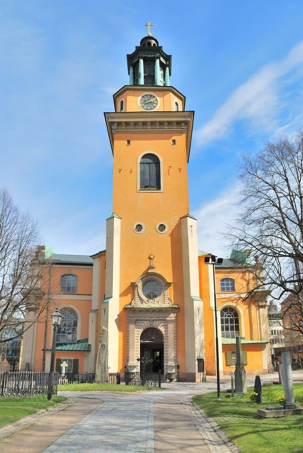 Stockholm. Maria Magdalena Kirche lizenzfreie stockfotos