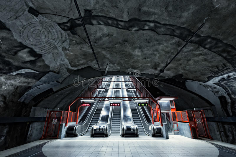 Stockholm Metro (Subway) royalty free stock photos