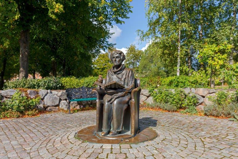 Stockholm Monument aan Astrid Lindgren stock afbeeldingen