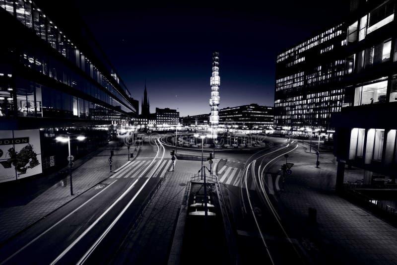 Stockholm noc zdjęcia royalty free