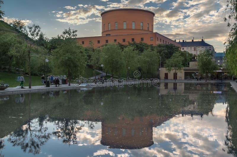 Stockholm offentligt bibliotek fotografering för bildbyråer