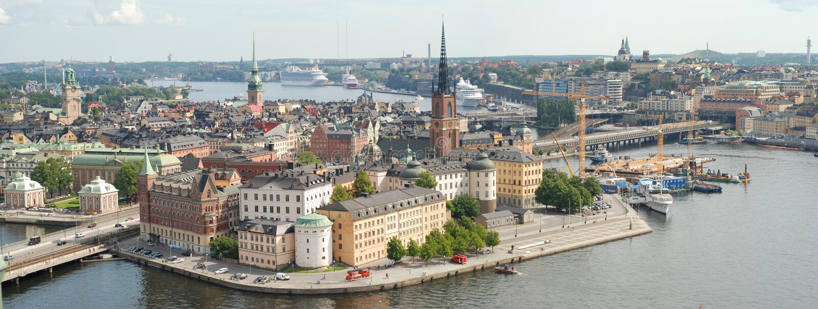 Stockholm Old Town in Sweden stock photography
