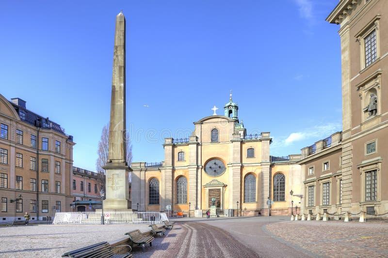 stockholm Område för den kungliga slotten royaltyfri bild