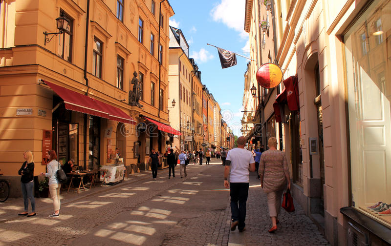 STOCKHOLM - OUDE STAD royalty-vrije stock afbeelding
