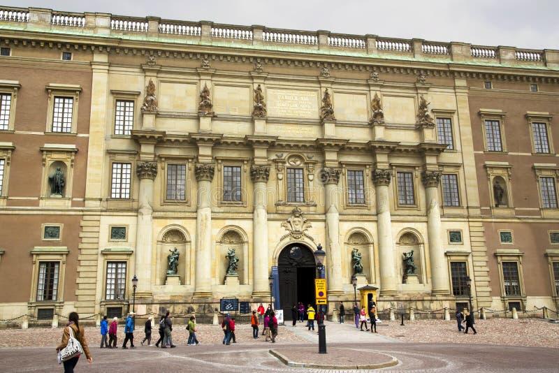 Stockholm pałac królewski zdjęcia royalty free