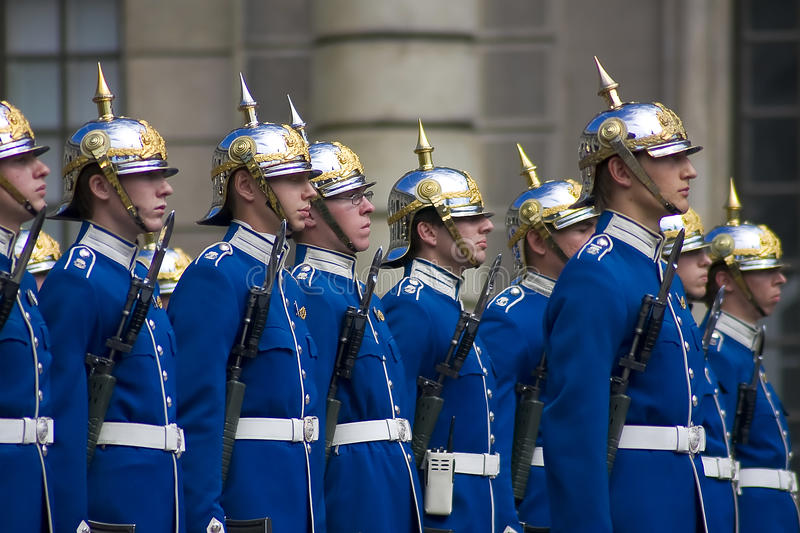 Stockholm Palace Guard royalty free stock images