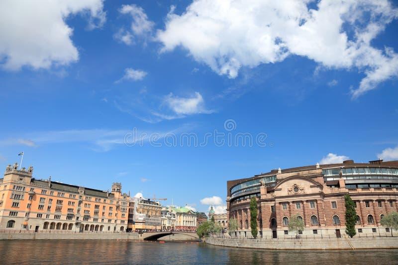 Stockholm, Parlament. lizenzfreie stockfotos