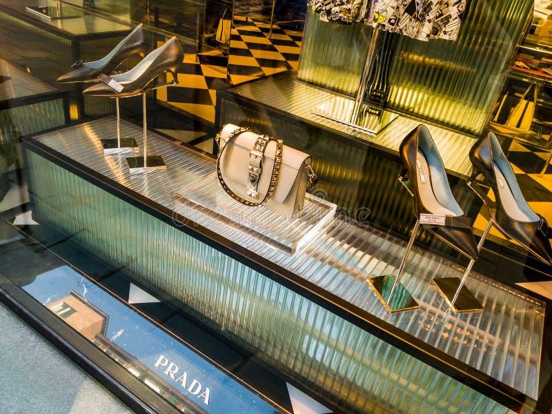 Stockholm Prada LEDARE royaltyfria bilder