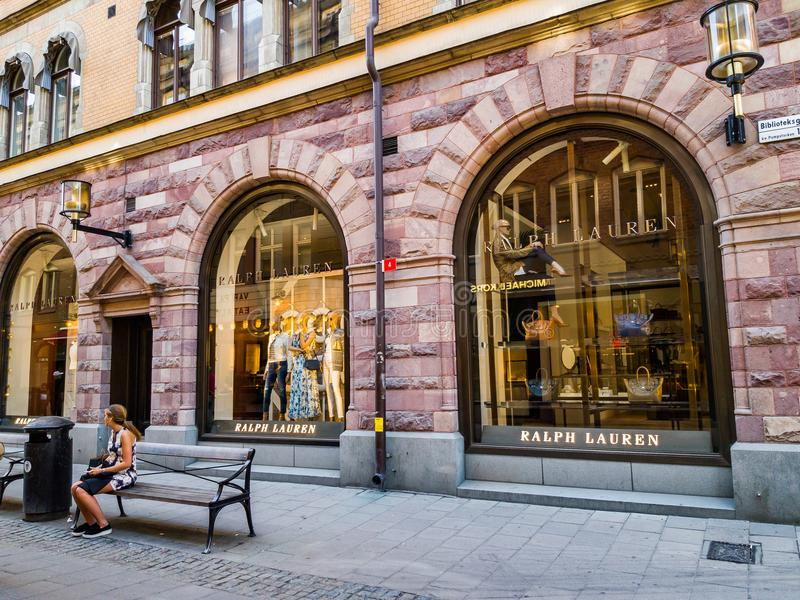 Stockholm Ralph Lauren LEDARE arkivfoton