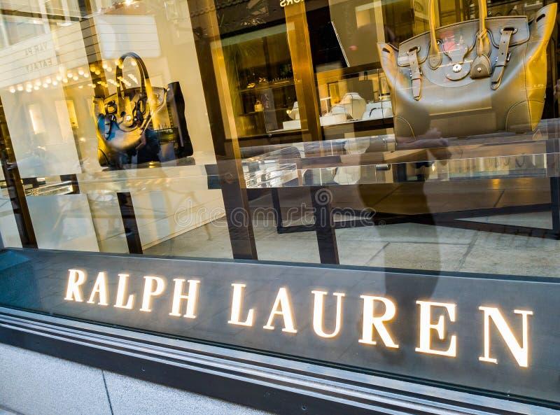 Stockholm Ralph Lauren LEDARE royaltyfri fotografi