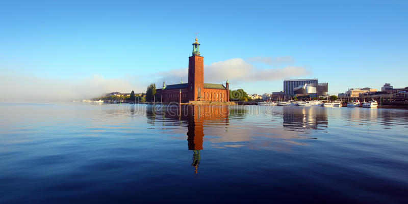 Stockholm ratusz obrazy stock