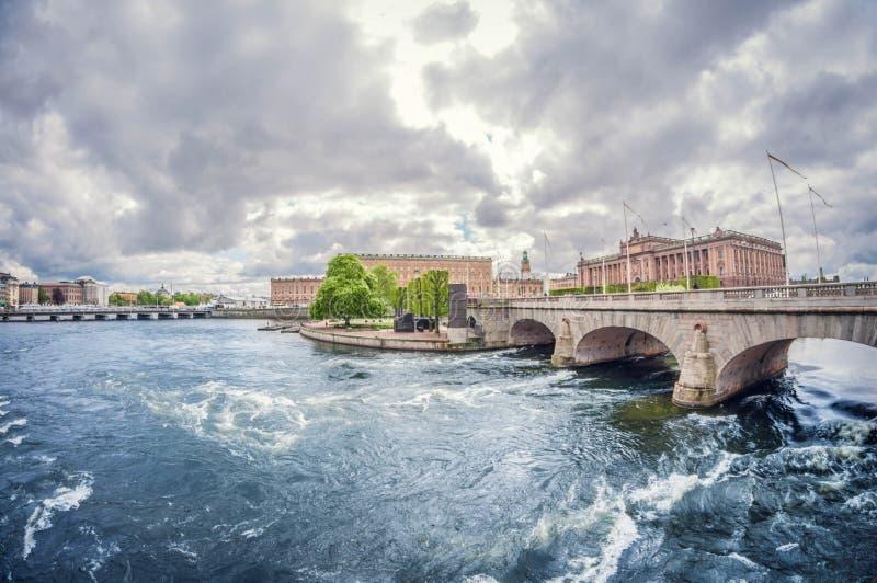 Stockholm, Schweden - 16. Mai 2016: Schweden Stockholm Riksplan Verzerrungsperspektive fisheye Linse stockbild