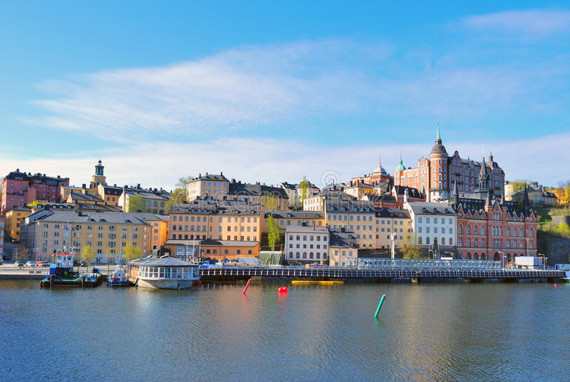 Stockholm, Sodermalm lizenzfreie stockfotografie