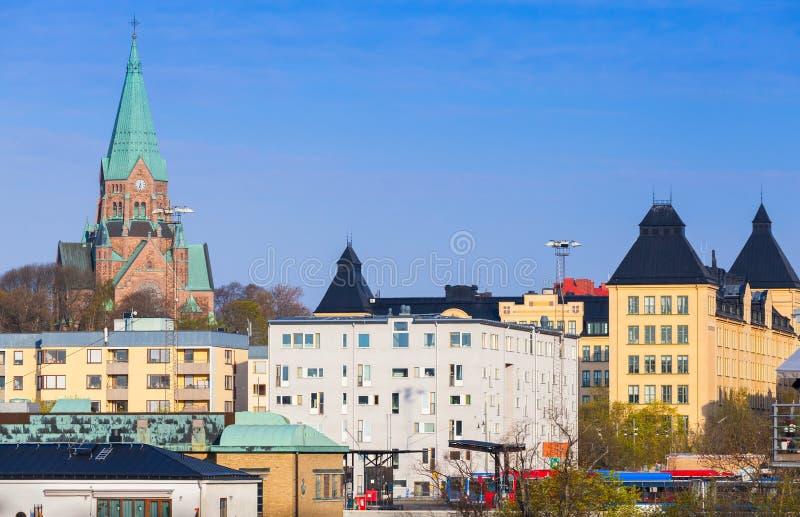Stockholm Sodermalm, Sofia Kyrka stock afbeeldingen