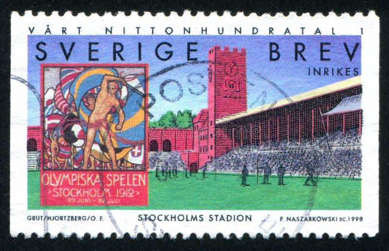 Stockholm stadion royaltyfri fotografi