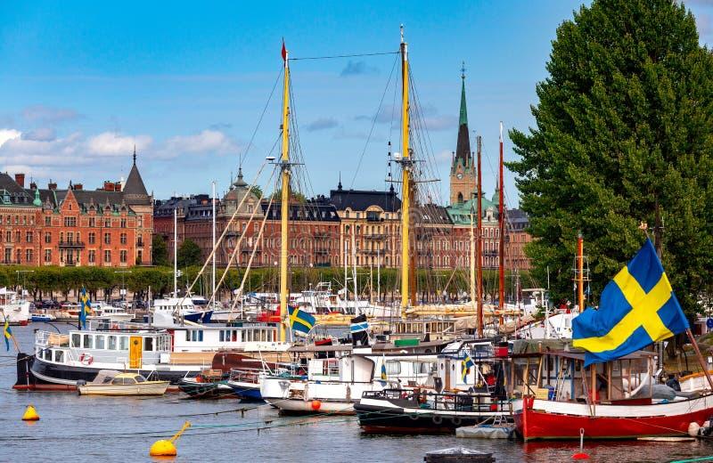 Stockholm Stadsbanken royalty-vrije stock afbeeldingen