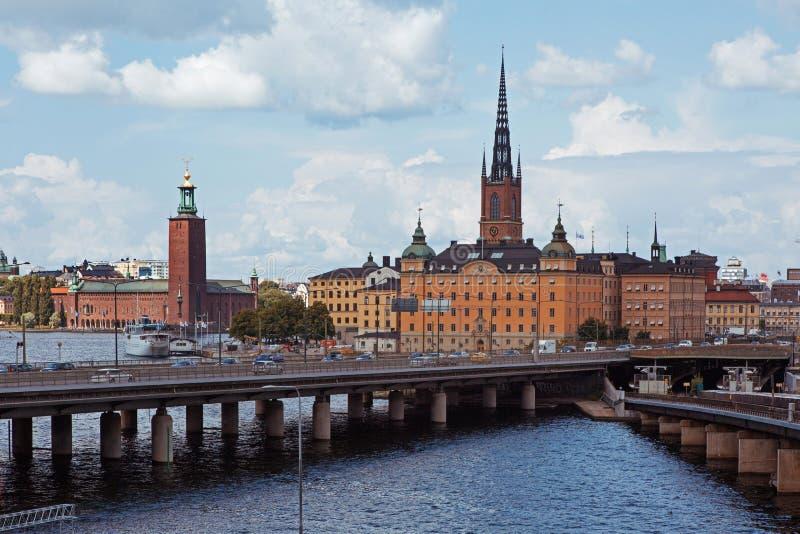 Stockholm stadshus royaltyfri bild