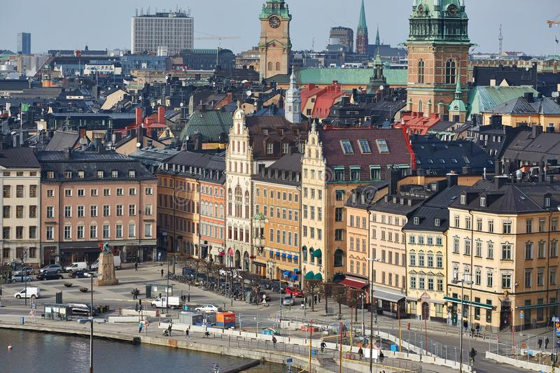 stockholm stary miasteczko obraz stock