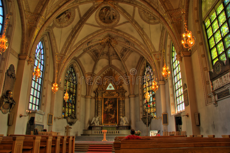 Download Stockholm State Cathedral stock image. Image of flare - 2665141