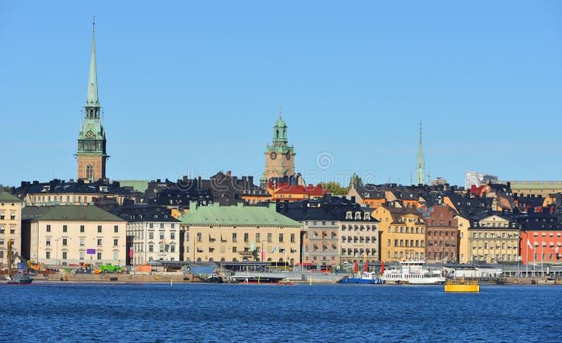 Stockholm, Suède Vue de mer Automne photos stock