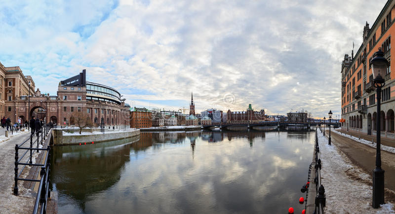 Download Stockholm Sverige redaktionell bild. Bild av snow, stockholm - 27285466