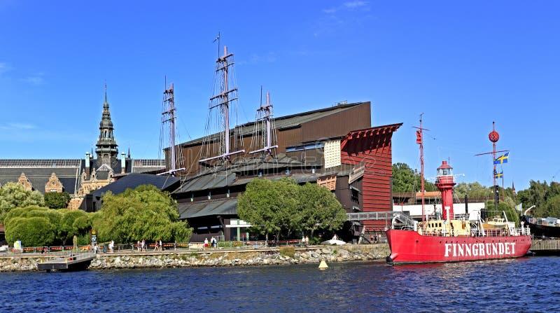 Stockholm Sverige, Djurgarden ö - Vasamuseum som är hängivet till arkivbilder