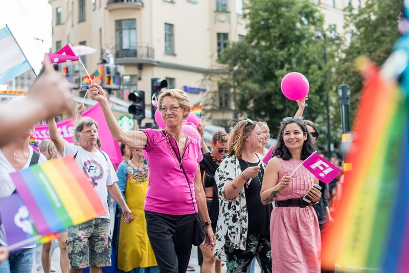 EuroPride 2018 with Stockholm Pride Parade royalty free stock photos