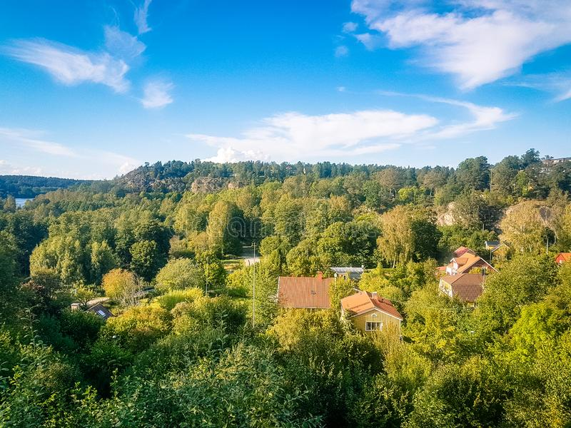 Stockholm sweden countryside nature woodland view. Shot of Stockholm sweden countryside nature woodland view stock photos