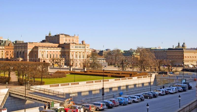 stockholm sweden Den kungliga svenska operan royaltyfri bild
