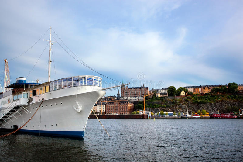 Download Stockholm, Sweden In Europe. Ship And Architecture Stock Image - Image: 20780579