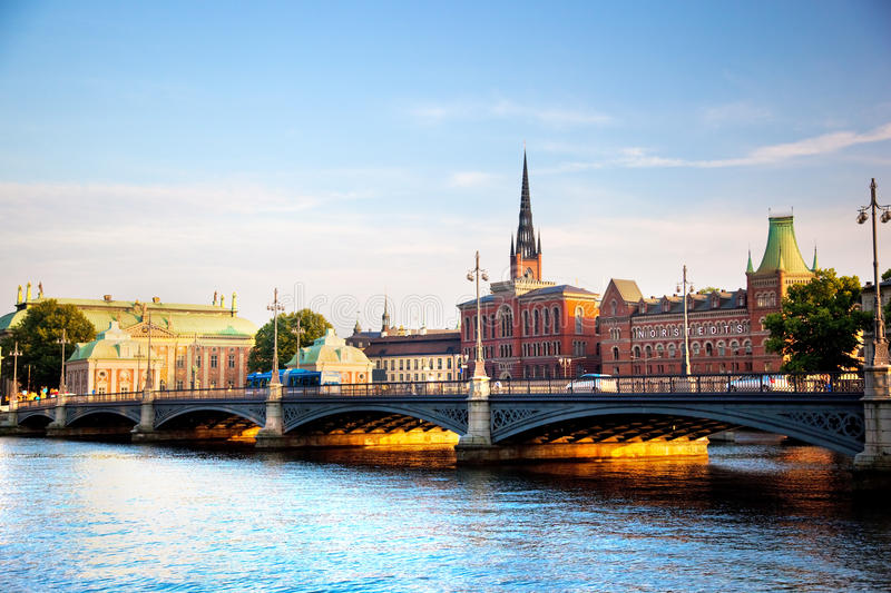 Download Stockholm, Sweden In Europe. Waterfront View Stock Image - Image: 20780527