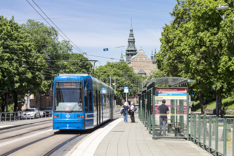 Stockholm Sweden Tram stock photo