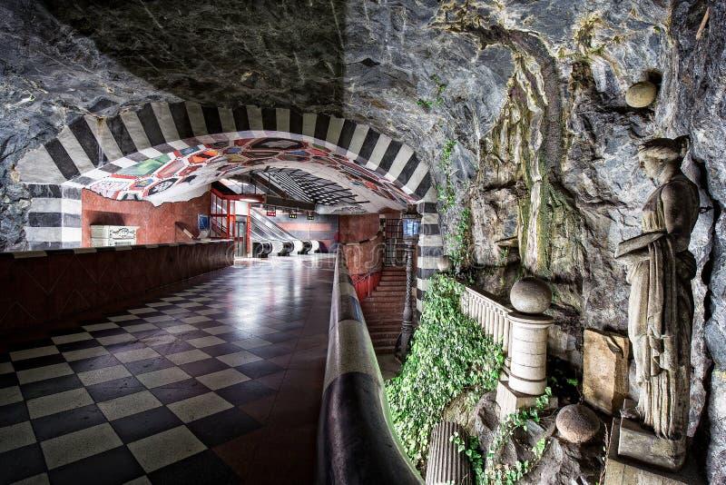 Stockholm tunnelbana (gångtunnelen) royaltyfria foton
