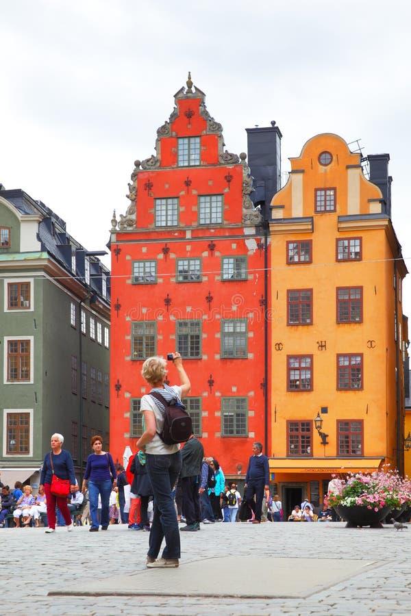 stockholm turyści obraz royalty free