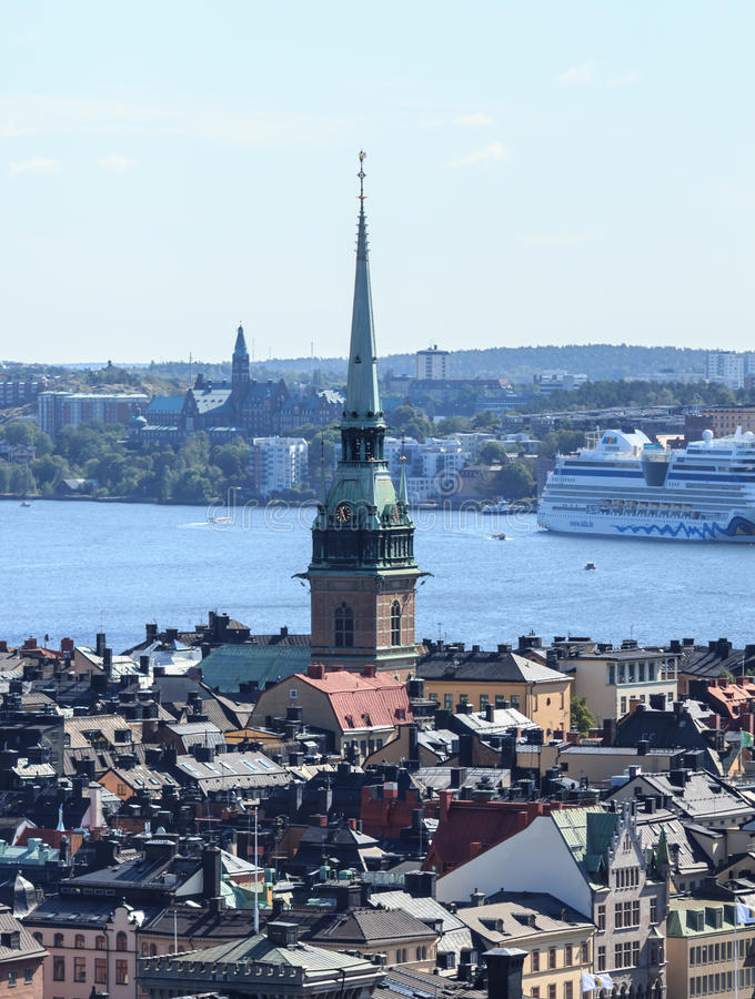 Aerial panorama of Stockholm, Sweden stock photography