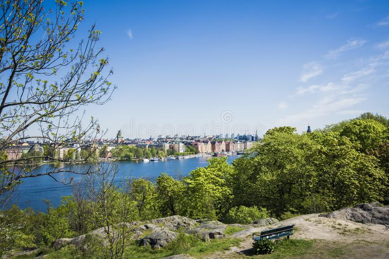 Stockholm from a view stock photo