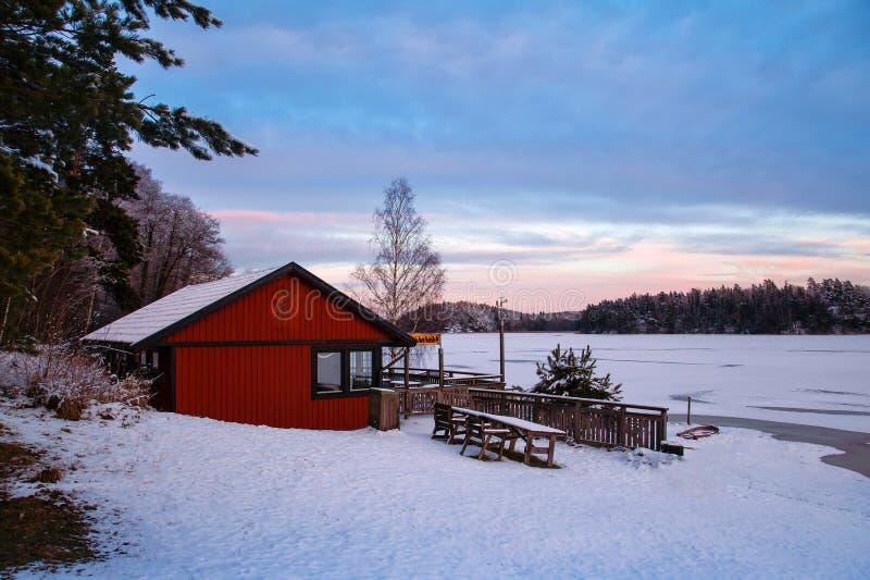Stockholm-Winter lizenzfreie stockbilder