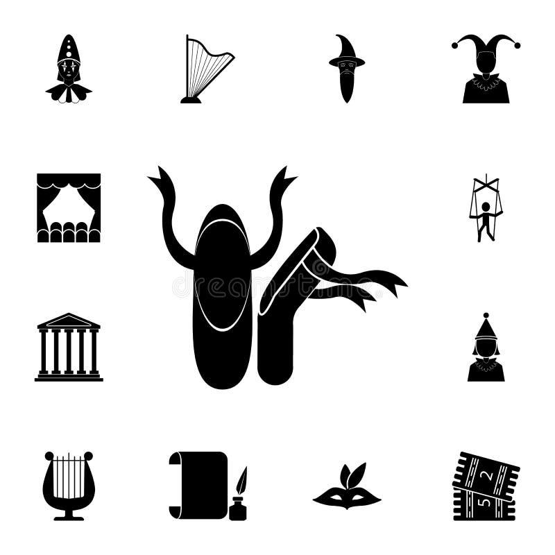 Stockikone Ausführlicher Satz Theaterikonen Erstklassiges Grafikdesign Eine der Sammlungsikonen für Website, Webdesign, beweglich lizenzfreie abbildung