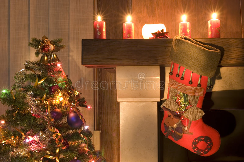 Download Stocking stock photo. Image of poinsettias, stuffed, antique - 1625392