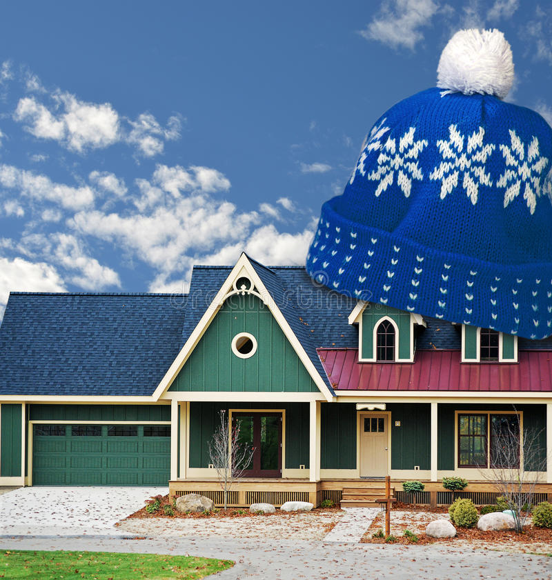 Download Stocking cap on house stock illustration. Illustration of modern - 27210365